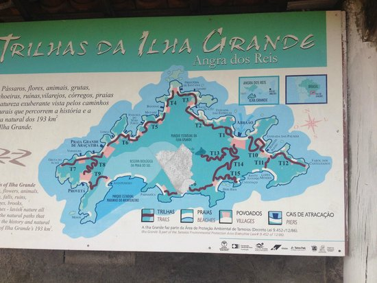 Vila Pedra Mar: Plan de l'ile, la villa est au Sud-Est