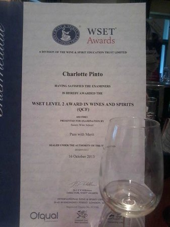 Wset Level 2 Certificate In Wine And Spirits Picture Of