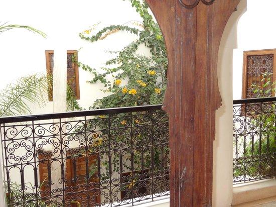 Riad el Maktoub Marrakech : vue du balcon