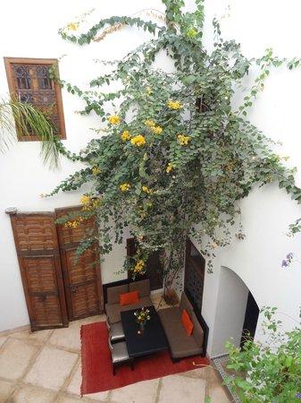 Riad el Maktoub Marrakech : vue du patio