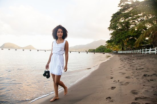 Miss Dominica World visits Picard Beach Cottages - Photo by Bas Von Oort