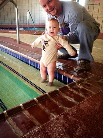 AmericInn Lodge & Suites Oswego : My son enjoyed splashing his feet in the nice heated pool!