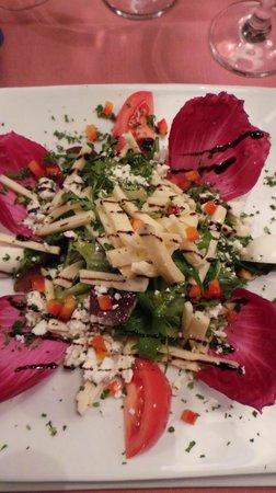 Les chandelles : salade fromagére