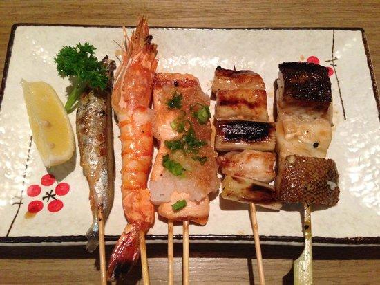 Shin Kushiya: Grilled seafood combo