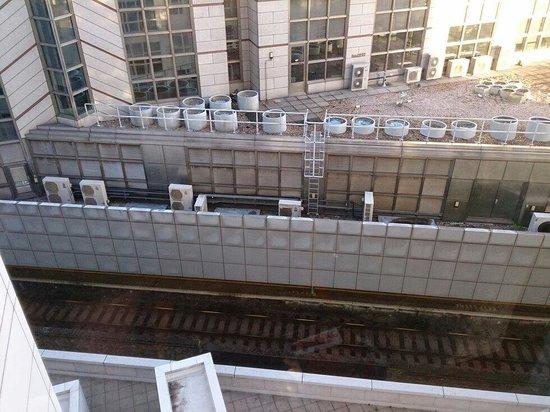 Grange City Hotel: 8th floor window view.