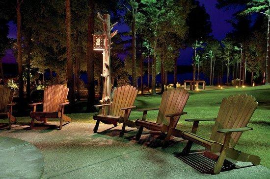 The Ritz-Carlton Reynolds, Lake Oconee: Adirondack chairs surrounding the Lodge campfire