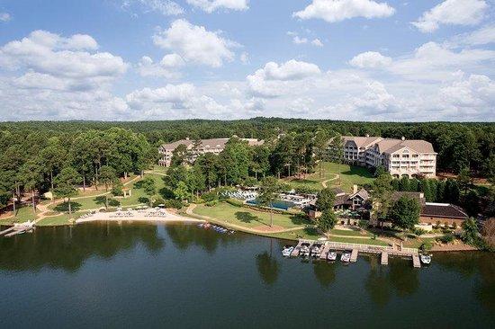 The Ritz-Carlton Reynolds, Lake Oconee: Aerial hotel & golf course 3