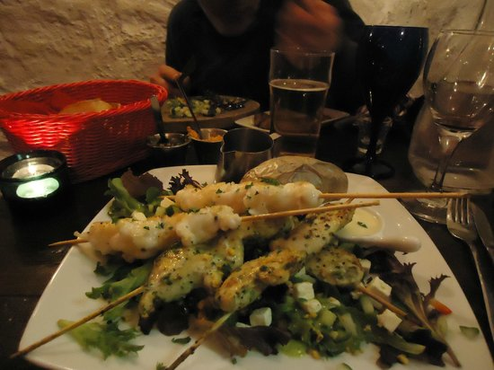 Tapas Barinn: Lobster Tails and Chicken Fillet