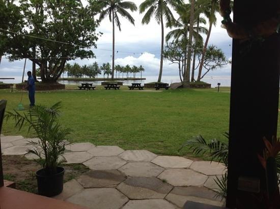 Naviti Resort: view for breakfast