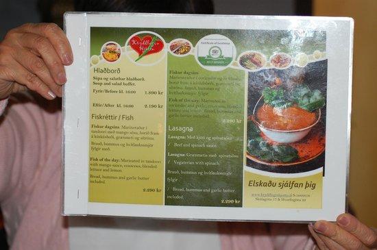 Kryddlegin Hjortu: menu