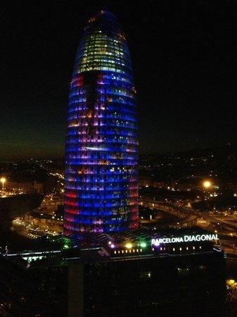 Novotel Barcelona City: Utsikt vån 14, Torre Agbar