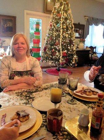 Woodridge Bed and Breakfast of Louisiana: Innkeeper Debbi, is a very sweet and kind hostess