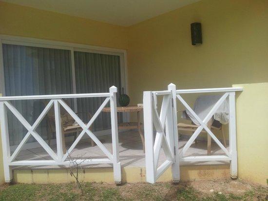 Magdalena Grand Beach & Golf Resort: our patio