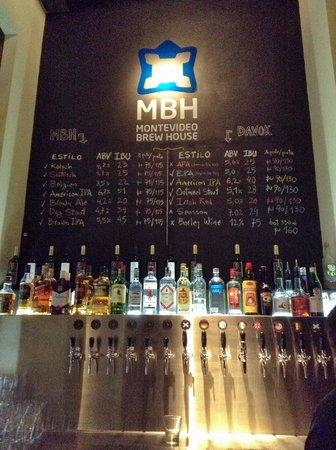 Montevideo Brew House: Beer list
