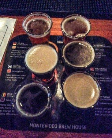 Montevideo Brew House: MBH tasters