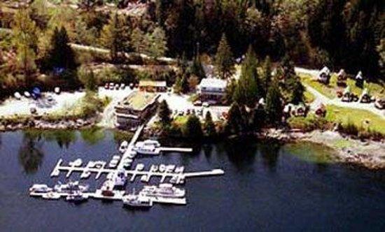 Backeddy Resort & Marina : Aerial shot of the property