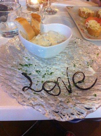 First Love: Starter mushroom & cream sauce
