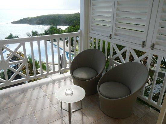 Hotel Amaudo: Vue sur la terrasse ... et la mer