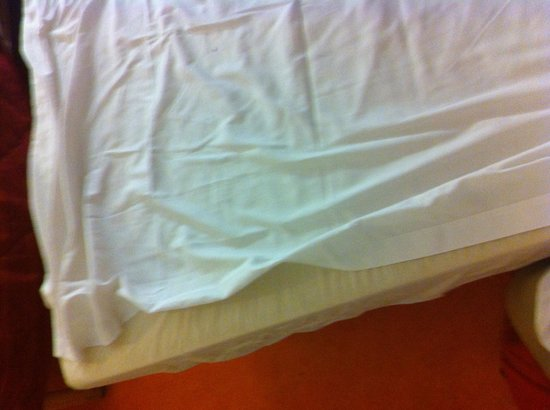Premiere Classe Annemasse - Gaillard : Voici comment le lit est fait quand vous arrivé