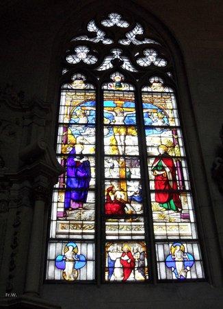 Muenster Cathedral (St. Paulus Dom) : Glas en loodraam .