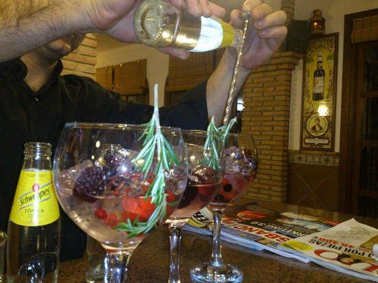 Casa de vinos y pintxos Malvasia: Gin tonic fresquitos
