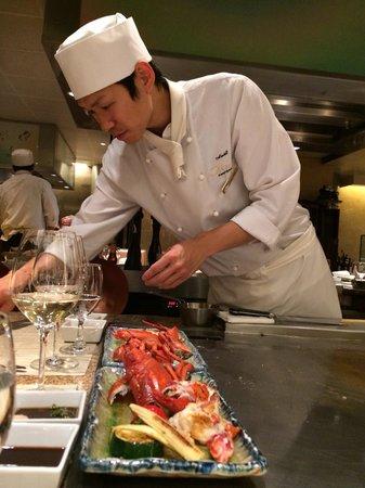 Hotel Okura Amsterdam: Wonderful Japanese Chefs at Sazanaka Restaurant