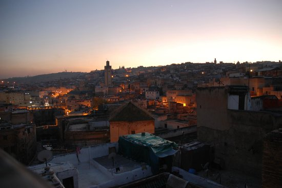 Dar Seffarine : Sunset from the rooftop terrace