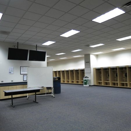 Sports Authority Field at Mile High : visitor's locker room