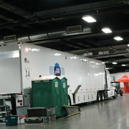 Sports Authority Field at Mile High: CBS truck inside stadium