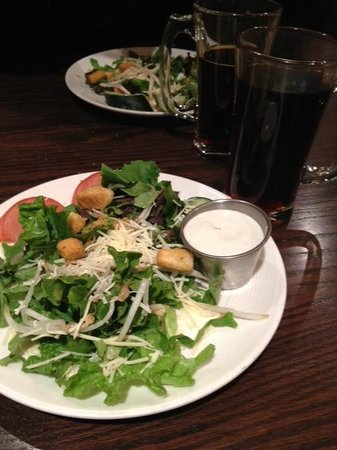Alice's Steak & Sushi : Salad with house bleu cheese dressing