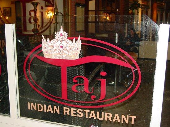 Taj Indian: our logo