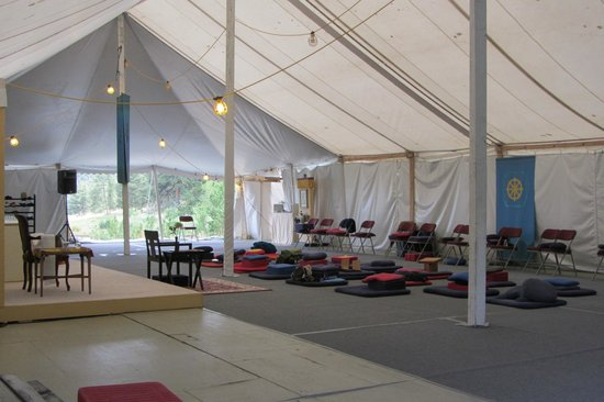 Shambhala Mountain Center : Meditation Shrine Tent
