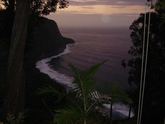 Waipio Rim : Evening view from the lanai