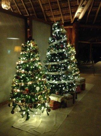 Mahekal Beach Resort: Lobby Xmas Trees