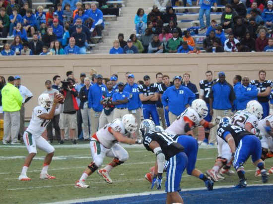 Wallace Wade Stadium: Action on the field