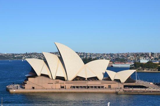 Sydney Opera House : Opera House from Harbor Bridge