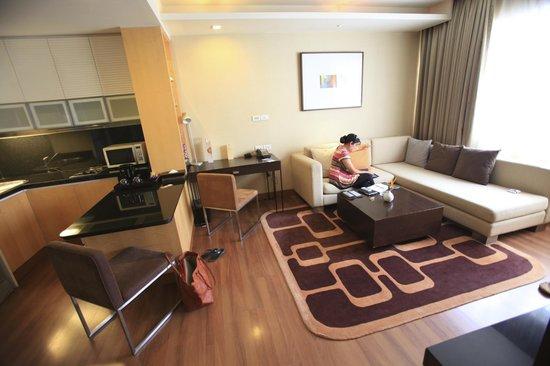 Grand Sukhumvit Hotel Bangkok: Un salon bien agréable