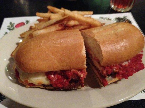 De Blasio's: Chicken Parmesan Sandwich with Fries