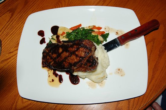 The Yellow Church Cafe: RR Ranch Coffee rubbed New York Steak