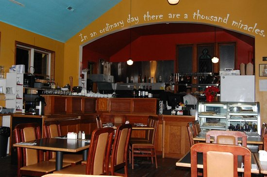 The Yellow Church Cafe: Inside you can kind of watch the chef