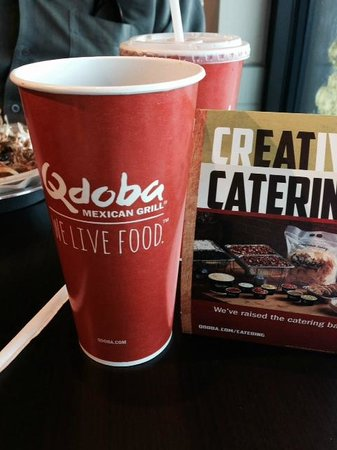 Qdoba drinks and catering offerings! Qdoba Mexican Grill  |  2-1830 Park Avenue, Brandon, Manito