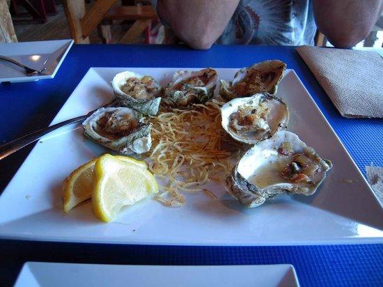 Phillippi Creek Village Restaurant & Oyster Bar : Baked bacon oysters