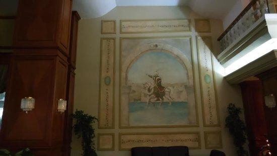 Akgun Istanbul Hotel: ラウンジの壁画