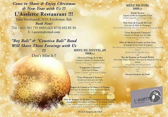 L'Assiette: Join Us for Christmas & New Year !!!