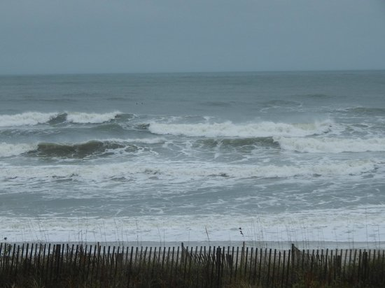 """Holden Beach: The """"angry ocean"""" during Winter Storm Boreas 11-27-13"""
