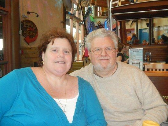 Holden Beach: Us at dinner at Margaritaville, Myrtle Beach,SC  11-26-13