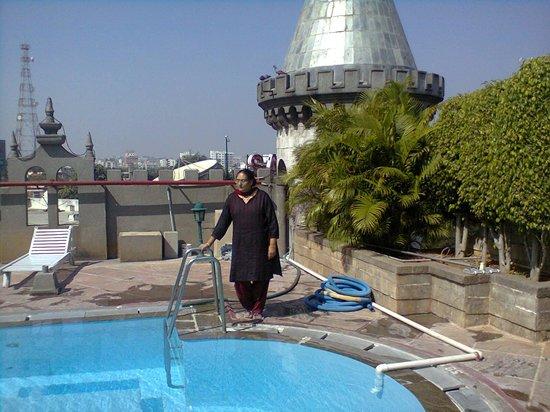 Amrutha Castle : near the terrace pool
