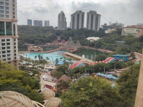 Sunway Pyramid Hotel : Room view of sunway lagoon