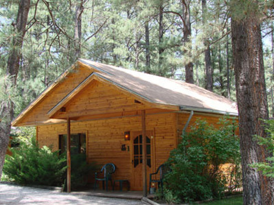 """Story Book Cabins: Cabin #1 """"Knotty Pine"""" An upscale rustic cabin with optional private outdoor hot tub"""