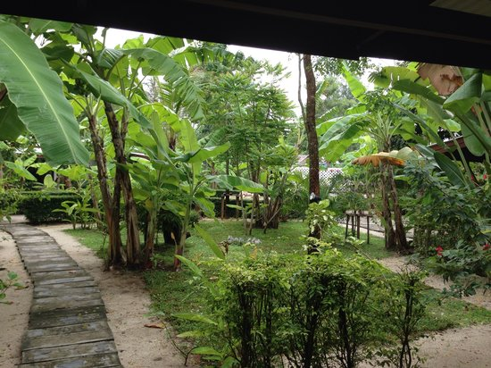 Da Kanda Villa Beach Resort: View outside bungalow A18